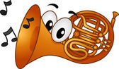 French Horn Mascot — Stock Photo