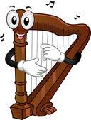 Harp Mascot — Stock Photo