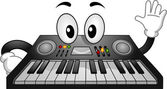 Electronic Keyboard Mascot — Stock Photo