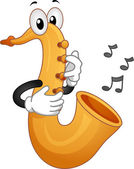 Saxophone Mascot — Stock Photo