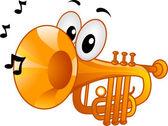 Trumpet Mascot — Stock Photo
