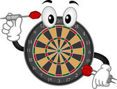 Dartboard Mascot — Stock Photo
