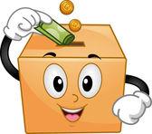 Donation Box Mascot — Stock Photo