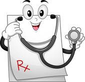 Mascote de prescrição — Foto Stock