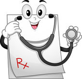 Prescription Mascot — 图库照片