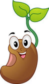 Seedling Mascot — Stock Photo