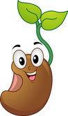 Seedling Mascot — Stock Photo