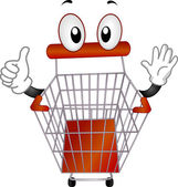 Pushcart Mascot — Stock Photo