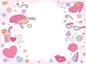 Girl Fashion Background — Stock Photo