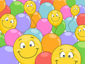 Smiling Balloons Background — Stock Photo