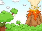 Volcano Eruption Scene — Stock Photo