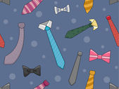Neckties and Bowties Background — Stock Photo