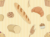 Bread and Pasties Background — Stock Photo