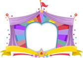 Circus Tent Banner — Stock Photo