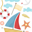 Nautical Design Elements — Stockfoto
