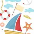Nautical Design Elements — Stock Photo