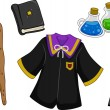 Stock Photo: Wizard Items Design Elements