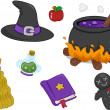 Witchcraft Items Design Elements - Lizenzfreies Foto