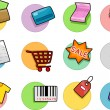 Shopping Icons Design Elements — Stock Photo