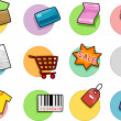 Stock Photo: Shopping Icons Design Elements