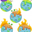 Stock Photo: Sick Planet Icons