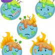 Sick Planet Icons — Stock Photo #17178807