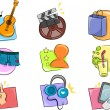 Hobbies and Interests Icon Design Elements - Stock Photo