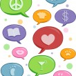 Stock Photo: Speech Bubbles of Different Topics Design Elements