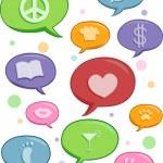 Speech Bubbles of Different Topics Design Elements — Stock Photo