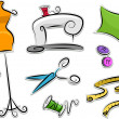 Dressmaking Stickers Design Elements — Stock Photo
