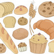 Bread and Pastries Design Elements — Foto Stock