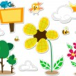 Stock Photo: Nature Doodle Stickers Design Elements