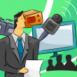 Royalty-Free Stock Photo: Broadcaster Guy