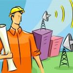 Communications Engineer — Stock Photo #17179077