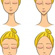 Face Shapes - Stockfoto