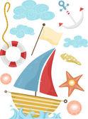 Nautical Design Elements — Stock Photo