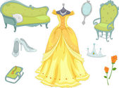 Princess Design Elements — ストック写真