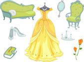 公主设计元素 — 图库照片