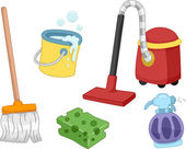 House Cleaning Tools — Stock Photo