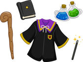 Wizard Items Design Elements — Stock Photo