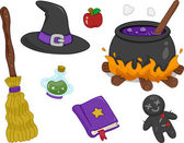 Witchcraft Items Design Elements — Stock Photo