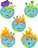 Sick Planet Icons — Stock Photo