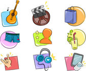 Hobbies and Interests Icon Design Elements — Stock Photo