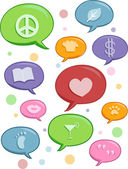 Speech Bubbles of Different Topics Design Elements — Stock Photo