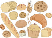 Bread and Pastries Design Elements — Stock Photo