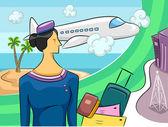 Tourism Woman — Stock Photo