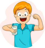 Melk jongen — Stockfoto
