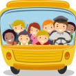 School Bus Kids — Stock Photo