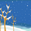 Snow Covered Winter Tree — Stock Photo