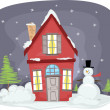 Winter House — Stock Photo